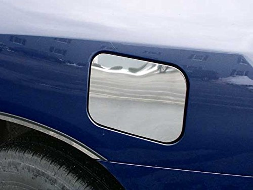 QAA FITS HIGHLANDER 2001-2007 TOYOTA (1 Pc: Stainless Steel Fuel/Gas Door Cover Accent Trim, 4-door, SUV) GC22185 Quality Auto Accessories