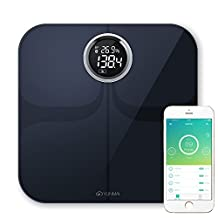 Yunmai Wireless Bluetooth Smart Scale Weight Body Digital BMI IOS & Android, Black