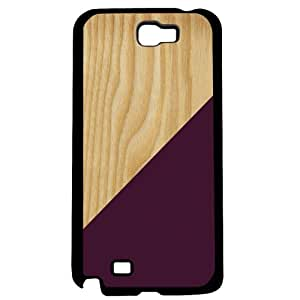 Burgundy Geometric Shape on Light Wood Hard Snap on Phone Case (Note 2 II) by icecream design