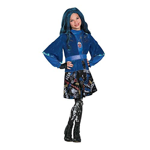Girl Character Costume Ideas (Evie Isle of the Lost Deluxe Costume, Multi-colored,)