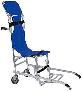 Stair Chair Silla de Escalera Silla de Ambulancia Plegable de Aluminio Ligero Bombero Evacuación Ascensor Silla de Escalera 2 Ruedas Silla de Transporte: Amazon.es: Deportes y aire libre