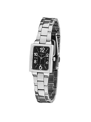 af61044258d8 CASIO 19505 LTP-1294D-1AV - Reloj Señora cuarzo brazalete metálico dial  negro