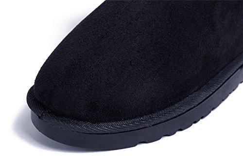 Bottes Tricot Ageemi Plat Renforc En Neige Talon Taille Hiver Shoes Femmes SwSIEa