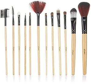 Glow 7 Pc Professional Makeup Brushes Set in British Flag Design Case