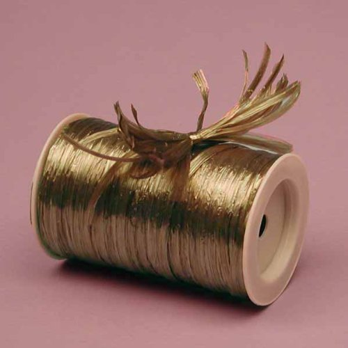 Copper Metallic Raffia Ribbon, 1/4