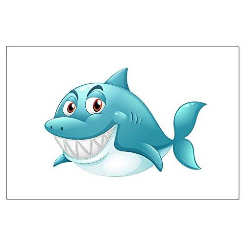 Large Poster Grinning Blue Shark