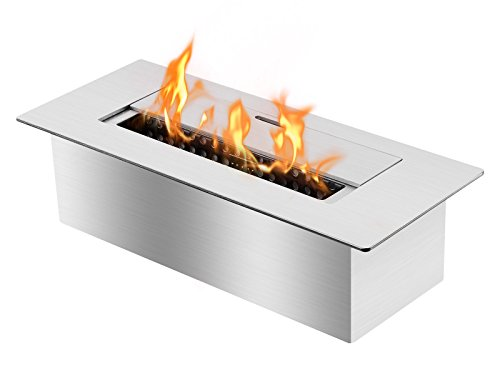 Ignis EB1200 Ethanol Fireplace Burner Insert (Set Tool Wall Mounted Fire)