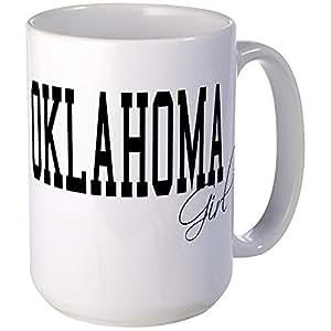 CafePress - Oklahoma Girl Large Mug - Coffee Mug, Large 15 oz. White Coffee Cup