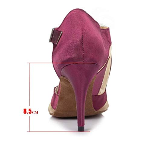 sandali Blackheeled6cm Our36 Danza Yingsssq moderno Salsa Eu35 Donna Da Latino Alti Purpleheeled7 samba Scarpe tango 5cm Jazz uk4 Tacchi chacha Ballo wSvFZ