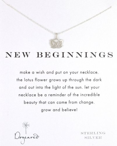 Dogeared Gift Boxed Sterling Silver New Beginnings Lotus Reminder