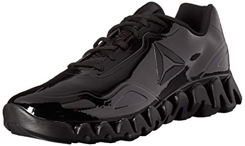 Reebok Men's Zig Pulse Running Shoe, black/black/patent, 10.5 M US