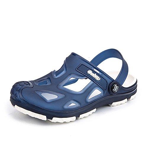 Slip shoes Sandali spiaggia uomo On Tacco Outdoor Hollow 2018 Trend Vamp Mens Ciabatte piatto da da SOxzw5