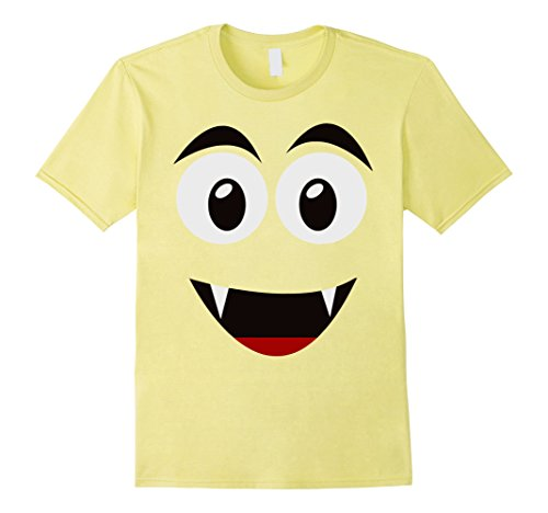 The Ghost Of Christmas Present Costume (Mens Emoji Smiling Ghost Shirt Yellow Face Funny Costume Gift Large Lemon)