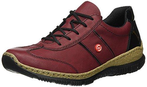 Rieker Womens L.Low Shoes vino/Black Size 39 EU
