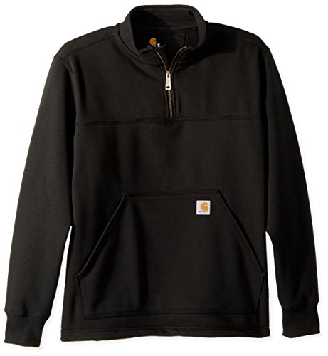 Carhartt Men's Rain Defender Paxton Heavyweight Quarter Zip Sweatshirt, Black, X-Large
