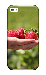 High Quality Shock Absorbing Case For Iphone 5c-strawberry