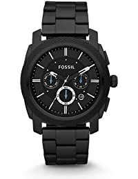 Men's Machine Quartz Stainless Steel Chronograph Watch Color: Black (Model: FS4552)
