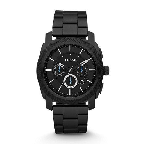 Fossil Men's Machine Quartz Stainless Steel Chronograph Watch Color: Black (Model: FS4552)