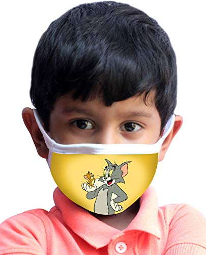 BLEED INDIA Kids Tom and Jerry 3-ply Printed Mask for Dust, Pollution, Multicolour Price & Reviews