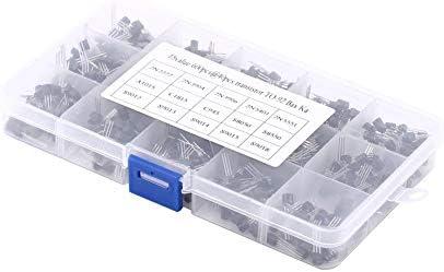 トランジスタ、600個15タイプ3ピン混合トランジスタTO-92各種トランジスタボックスキット
