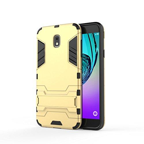 Samsung Galaxy J7 2018/J7 V 3rd Gen/J7 Aero/J7 Top/J7 Refine/J7 Eon/J7 Star/J7 Crown/J7 Aura, UZER Shockproof Dual Layer Hard Cover PC + Soft Silicone Combo Armor Defender Case Cover With Kickstand