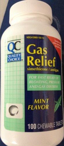 Price comparison product image QC GAS RELIEF CHEW MINT 100TB -PART # 35515-0946-35