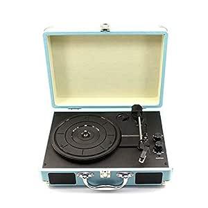 Giradiscos portátil Bluetooth maleta Giradiscos Máquina grabadora ...