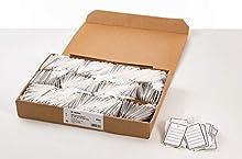 Herma 6841 - Etiquetas para ropa, 48x65 mm, con ojete/hilo, 1000 unidades, color blanco