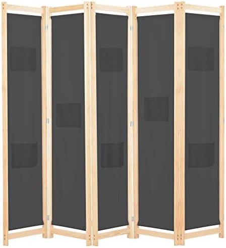 vidaXL Biombo 5 Paneles Separadores de Habitación 200x170cm Tela ...
