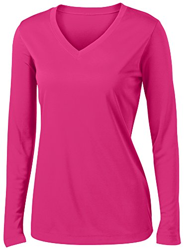 Ladies Long Sleeve Moisture Wicking Athletic Shirts Sizes XS-4XL P/RASB-M