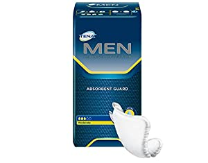 TENA. Incontinence Guards for Men, Moderate Absorbency, 20 Count by TÉNA.