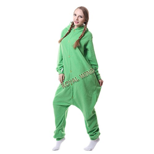 Adult Mike Wazowski Onesie Costume Kigurumi Cosplay Unisex Cartoon Sleepwear XL - Mike Wazowski Baby Halloween Costume