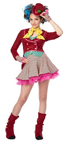 Mad Hatter Tea Party Tween Costume (California Costumes Mad As a Hatter Tween Costume, X-Large)