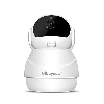 Mbuynow Domo Webcam 1080P IP Cámara WiFi vigilancia, Cámara casa Seguridad Nocturna, Alarma de