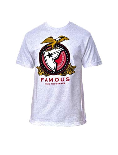 Famous Stars and Straps Men's Millmatic T-Shirt, Ash 2XL]()