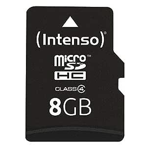 Intenso 3403460 Micro Tarjeta de Memoria SD 8 GB Grado 4 con SD ...