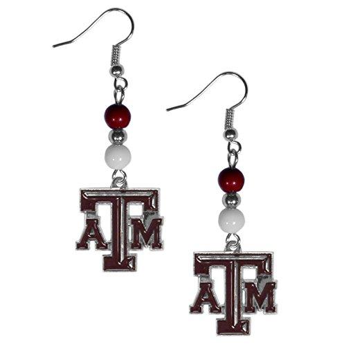 - NCAA Texas A&M Aggies Fan Bead Dangle Earrings