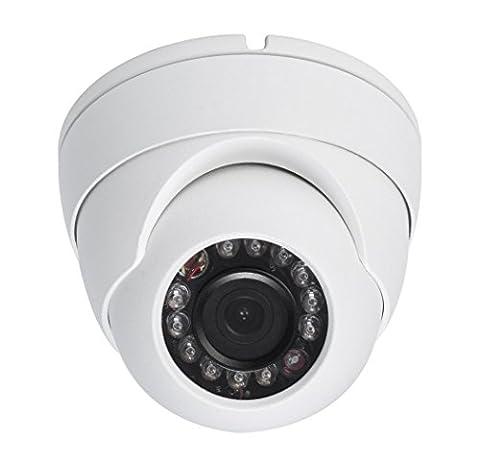 HDView 2.4MP 4-in-1 (TVI/AHD/CVI/960H) 1080P Outdoor Aptina Sensor 3.6mm Fixed Lens Turbo Platinum Dome - Everfocus Alarm