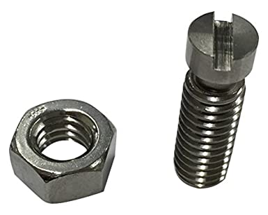 """1//4/""""  5-40 Stainless Steel Machine Screws Oval Head Slotted Drive 10"""