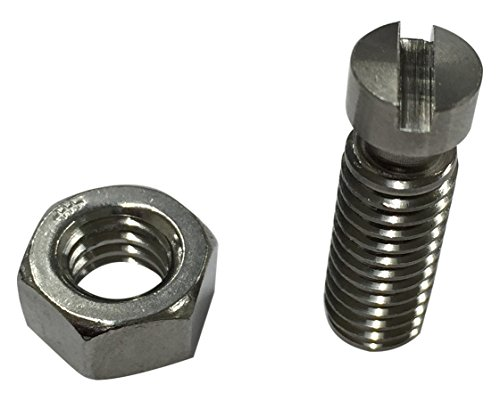 18-8 Stainless Steel Headless Spring Anchor With Hex Jam Nut, Plain Finish, 5/16
