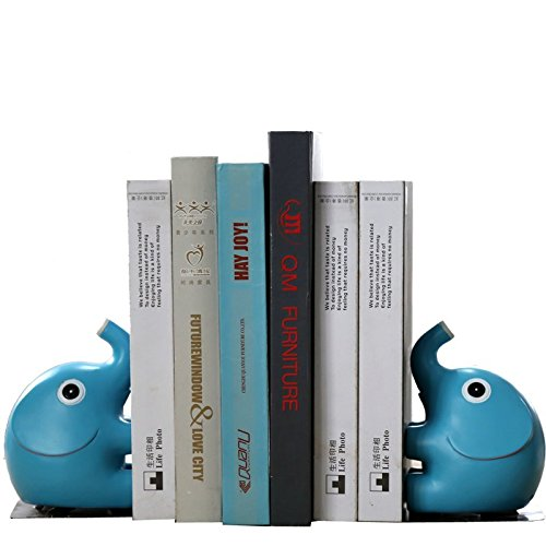 Eastyle Nonskid Bookend Cute Elephant Bookends for Home Office Library Desk Organizer (Home Office Library)