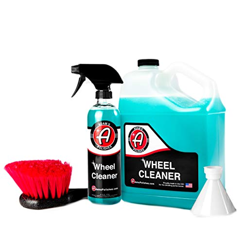 Adam's Wheel Cleaner Refill Kit - Color Changing Formula That Clings & Eliminates Brake Dust, Gentle on Wheels, Exhaust Tips, Rims - Spray Post Car Wash & Wax Jobs or Before Tire Shine Application (Best Wheel Cleaner 2019)