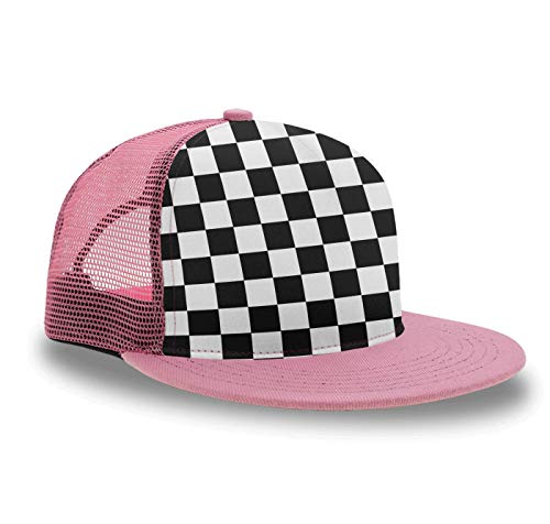 YongColer Race Waving Checkered Flag Baseball Cap Slouch Hat for Kids Boys Grils, Fitted Snapback Cap Tennis Cap Running Cap, Foldable Fast Dry Hip Hop Dad Hat Trucker Cap (Checkered Flag Baseball Cap)
