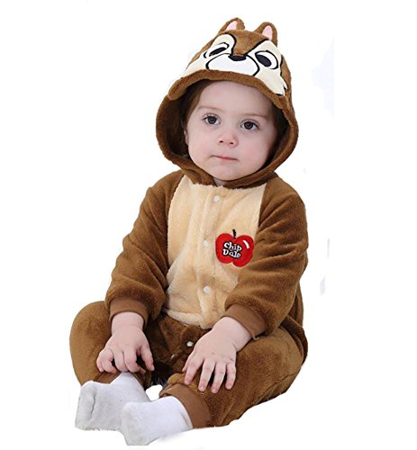 Tonwhar Baby Animal Squirrel Costume (Brown, 70 Ages 3-6 -