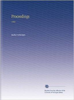 Book Proceedings: 1900