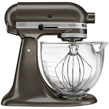 KitchenAid KSM155GBTD Artisan Design Series with Glass Bowl, 5 quart, Truffle Dust