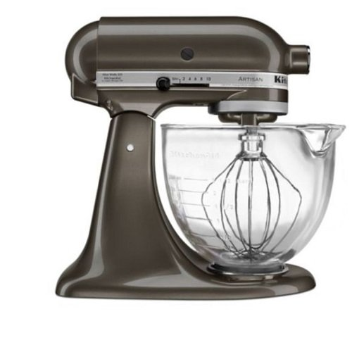 KitchenAid KSM155GBTD Artisan Design Series with Glass Bowl, 5 quart, Truffle Dust (Notes Truffle)