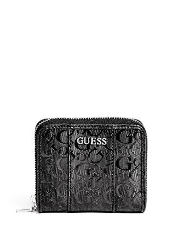GuessFactory Glazed Patent Zip Around Wallet