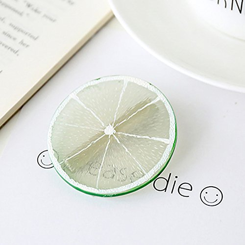 Unique Fruit Watermelon Circle Academy high Spirit Hair Elastic Rope Ponytail Holder Ponytail Hair Rubber Band Rope Circle Hair Accessories Headdress Elegant Woman (# 8 Lime Hairpin