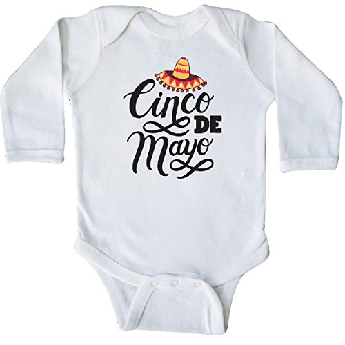 inktastic - Cinco De Mayo Hand Lettered Long Sleeve Creeper 6 Months White 34d1f